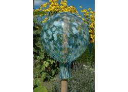 Plotová koule z hutního skla 20 cm XII