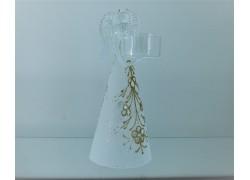 Angel made of glass on a candle www.sklenenevyrobky.cz