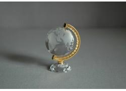 Glass small globe in clear color www.sklenenevyrobky.cz