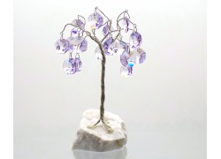 Happiness tree with crystal trimmings, amethyst www.sklenenevyrobky.cz