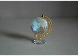 Globe in clear glass with metallic color www.sklenenevyrobky.cz