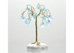 Happiness tree with crystal trimmings, aquamarine www.sklenenevyrobky.cz