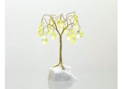 Stromek pro štěstí s křišťálovými ověsy citrín