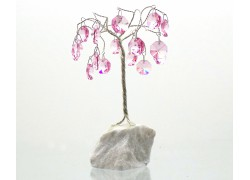 Happiness tree with crystal trimmings, pink www.sklenenevyrobky.cz