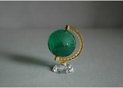 Glass globe in dark green color www.sklenenevyrobky.cz