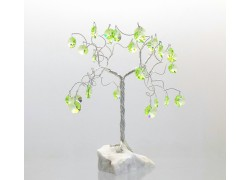 Happiness tree with crystal trimmings, green www.sklenenevyrobky.cz