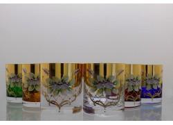 Barline glass 280ml for whiskey set 6 pcs, gilded and enamel