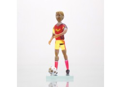 Soccer player Dukla Prague made of glass 11cm www.sklenenevyrobky.cz