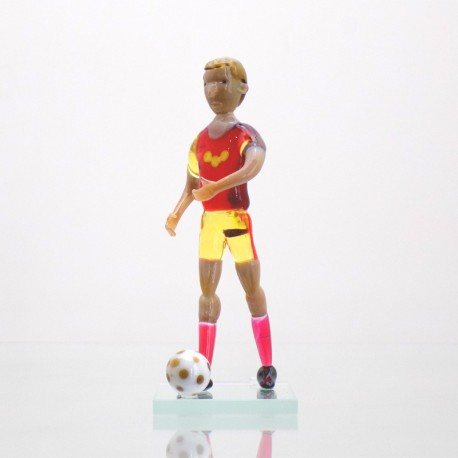 Skleněný fotbalista 11cm Dukla