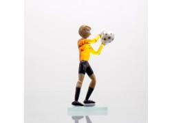 Soccer goalkeeper made of glass