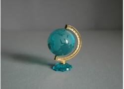Globus z číreho skla tyrkysová zelená