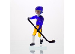 Skleněný hokejista Švéd 11 cm