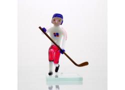 Hokejista zo skla 11cm team Czech republic www.sklenenevyrobky.cz