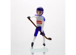 Hockey player team Czech republic from Glass www.sklenenevyrobky.cz