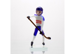 Skleněný hokejista CZ II 11cm