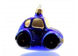 Auto střední modrý lak se zlatými okny 8020
