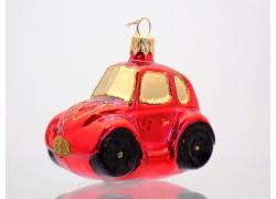 Auto střední červené se zlatými okny 5019