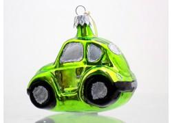 Auto střední zelen se stříbrnými okny 7019