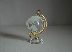 Globus ze skla v metalické barvě