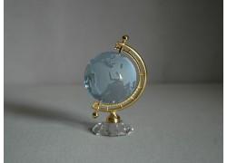 Globe from glass in light blue www.sklenenevyrobky.cz