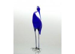 Blue heron from glass www.sklenenevyrobky.cz