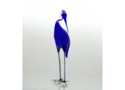 Volavka modrá zo skla www.sklenenevyrobky.cz