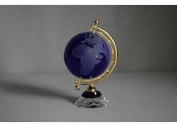 Globe from glass, dark blue www.sklenenevyrobky.cz