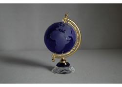 Globus ze skla, tmavě modrý