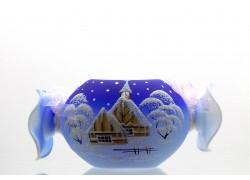 Vánoční svícen Bonbon modrý