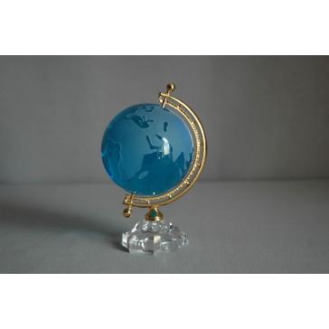 Globus zo skla, tyrkysovo modrý www.sklenenevyrobky.cz