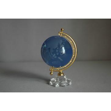 Globus zo skla, svetlo modrý www.sklenenevyrobky.cz