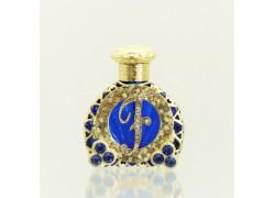 Glass flacon for perfumes with letter F www.sklenenevyrobky.cz