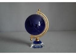 Globe from glass, blue colors www.sklenenevyrobky.cz