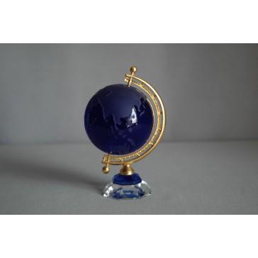Globus zo skla, modrej farby www.sklenenevyrobky.cz