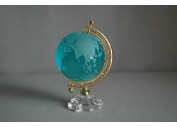 Globus from glass, turquoise greenery www.sklenenevyrobky.cz