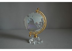 Globus zo skla, číre sklo, metalická farba