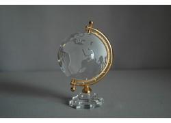 Globus ze skla 70mm crystal ,výška 12,5cm
