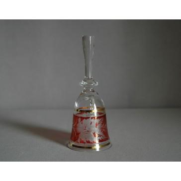 Zvonek listr malý I. 13cm červený