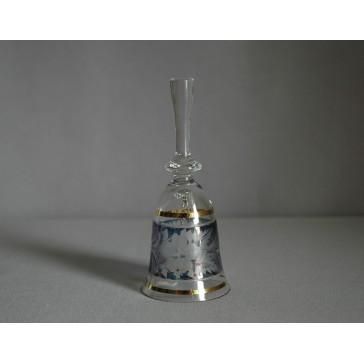 Zvonek malý listr 13cm modrý