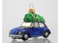 Auto modré se stromkem VW Brouk 591