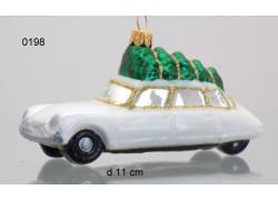 Vianočná ozdoba auto s vianočné stromčekom, citroen