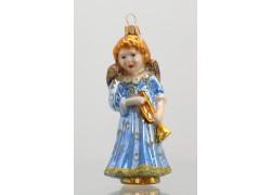 Weihnachtsglas Ornament Engel www.sklenenevyrobky.cz
