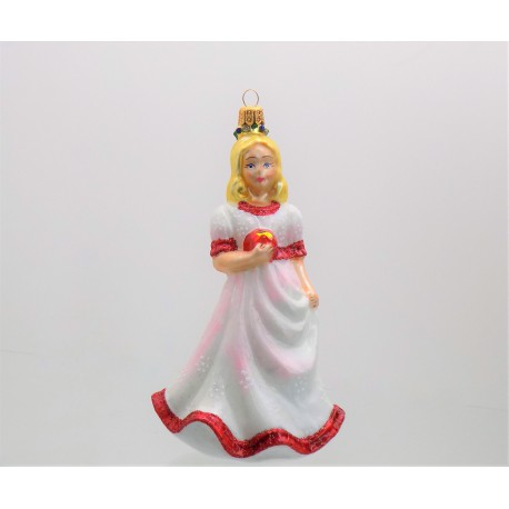 Vánoční ozdoba Sněhurka v růžových šatech 116