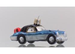 Auto modro stříbrné s dárky 724