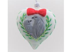 Christmas ornament Christmas heart www.sklenenevyrobky.cz