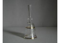 Glass bell, clear glass and decor flower www.sklenenevyrobky.cz