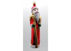 Vánoční ozdoba Santa F133 s berlí