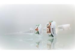 Špička 641 na vánoční stromeček 2 koule zimní domečky čirá