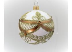 Vánoční koule 80mm zdobená