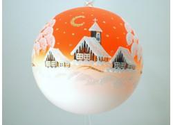 Vánoční koule 18cm oranžová decor zima